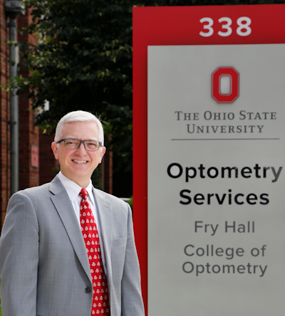 Dr. Gregory J. Nixon at OSU Optometry clinic