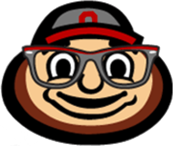 Brutus Buckeye with Glasses